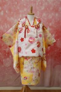 スタジオバンビの七五三 3歳女の子用着物
