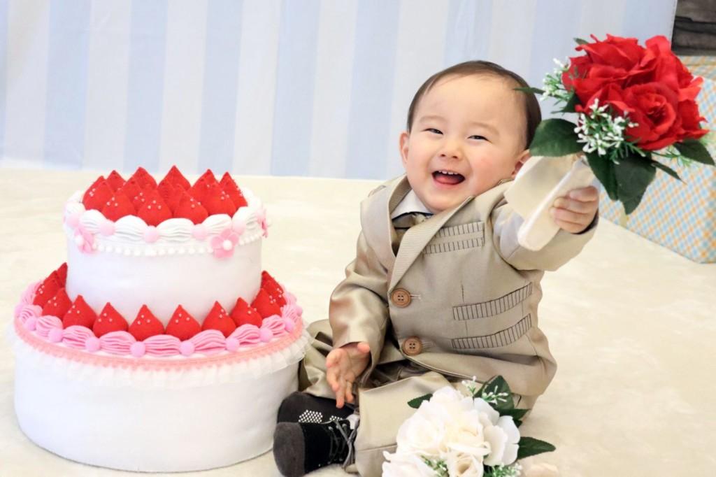 子供専門写真館スタジオバンビの1歳誕生日