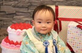 着物で1歳お誕生日撮影|スタジオバンビ鈴鹿