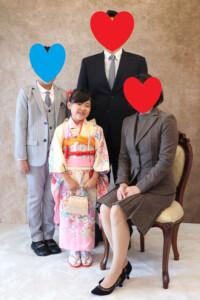 七五三の家族写真撮影